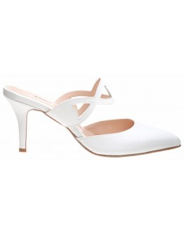 ΠΕΔΙΛΑ MULE WHITE EMILY ANASTASIA SHOES